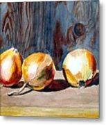 Onions In The Sun Metal Print