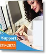 Online Support Phone Number For Quickbooks Enterprise Metal Print