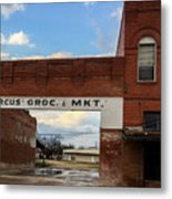 Only The Sign Remains #vanishingtexas Gone Grocery Metal Print