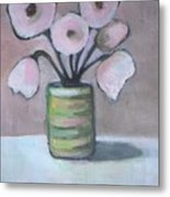 Only White Flowers Metal Print