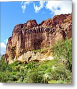 Onward And Upward At The Superstition Mountains Of Arizona Metal Print