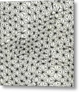 Op Art Abstract Triangle Design Metal Print