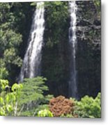 Opaekaa Falls On Kauai Before A Storm Metal Print