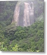 Opaekaa Falls On Kauai During A Storm Metal Print