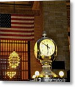 Opal Atomic Clock At Grand Central Metal Print