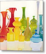 Opaque Glass Transparent Watercolor Metal Print