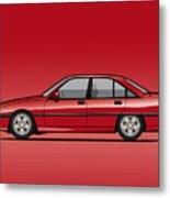 Opel Omega A, Vauxhall Carlton 3000 Gsi 24v Red Metal Print