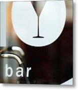 Open Bar Metal Print