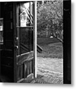 Open Door B-w Metal Print
