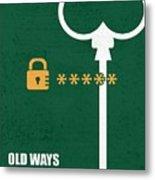 Open New Doors Business Quotes Poster Metal Print