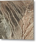 open pit mine Kennecott, copper, gold and silver mine operation Metal Print