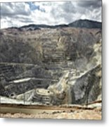 Open Pit Mine, Utah, United States Metal Print