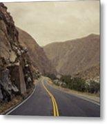 Open Road Through The Canyon Metal Print