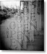 Open Sign Quadruple Multiple Exposure Holga Photography Metal Print