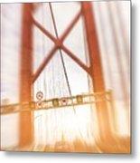 Open Traffic Lane On A Bridge Metal Print