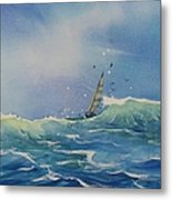 Open Waters Metal Print by Laura Lee Zanghetti