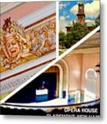 Opera House Diagonal Collage Metal Print