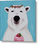 Ophelia The Polar Bear  Metal Print