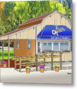 Opie's Snowball Stand Metal Print
