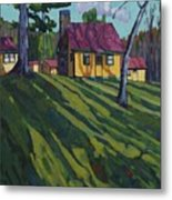 Opinicon Cottages In Autumn Metal Print