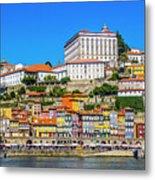 Oporto Riverfront Metal Print