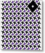 Optical Illusion Purple Black Flag 4. Metal Print