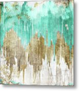 Opulence Turquoise Metal Print