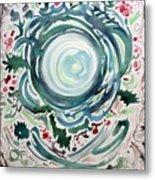 Oracular Yule Wreath Metal Print