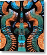Orange And Blue Abstract 1 Metal Print