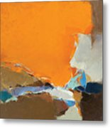 Orange And Brown Composition Metal Print
