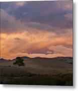 Orange And Purple Cloud Landscape Metal Print