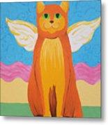 Orange Angel Cat Metal Print