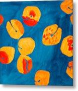 Orange Apricots Metal Print