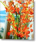 Orange Bloom Metal Print