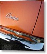 Orange Corvair Metal Print