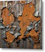 Orange Decay Metal Print