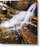 Orange Falls Metal Print by Chad Dutson