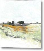 Orange Field  Metal Print