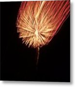 Orange Firework Metal Print