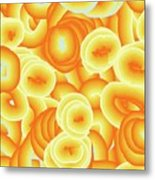 Orange Floaty 2 Metal Print