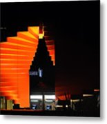 Orange Fountain Downtown Los Angeles Metal Print