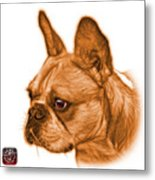 Orange French Bulldog Pop Art - 0755 Wb Metal Print