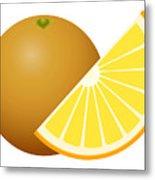 Orange Fruit Metal Print
