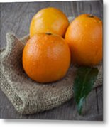 Orange Fruit Metal Print by Sabino Parente