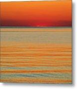Orange Glow Metal Print