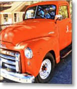 Orange Gmc Pickup Truck In Idyllwild Metal Print