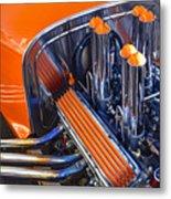 Orange Hot Rod Stacks Metal Print