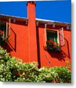 Orange House In Venice Metal Print