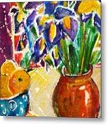 Orange Iris Metal Print