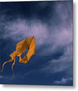 Orange Kite Metal Print